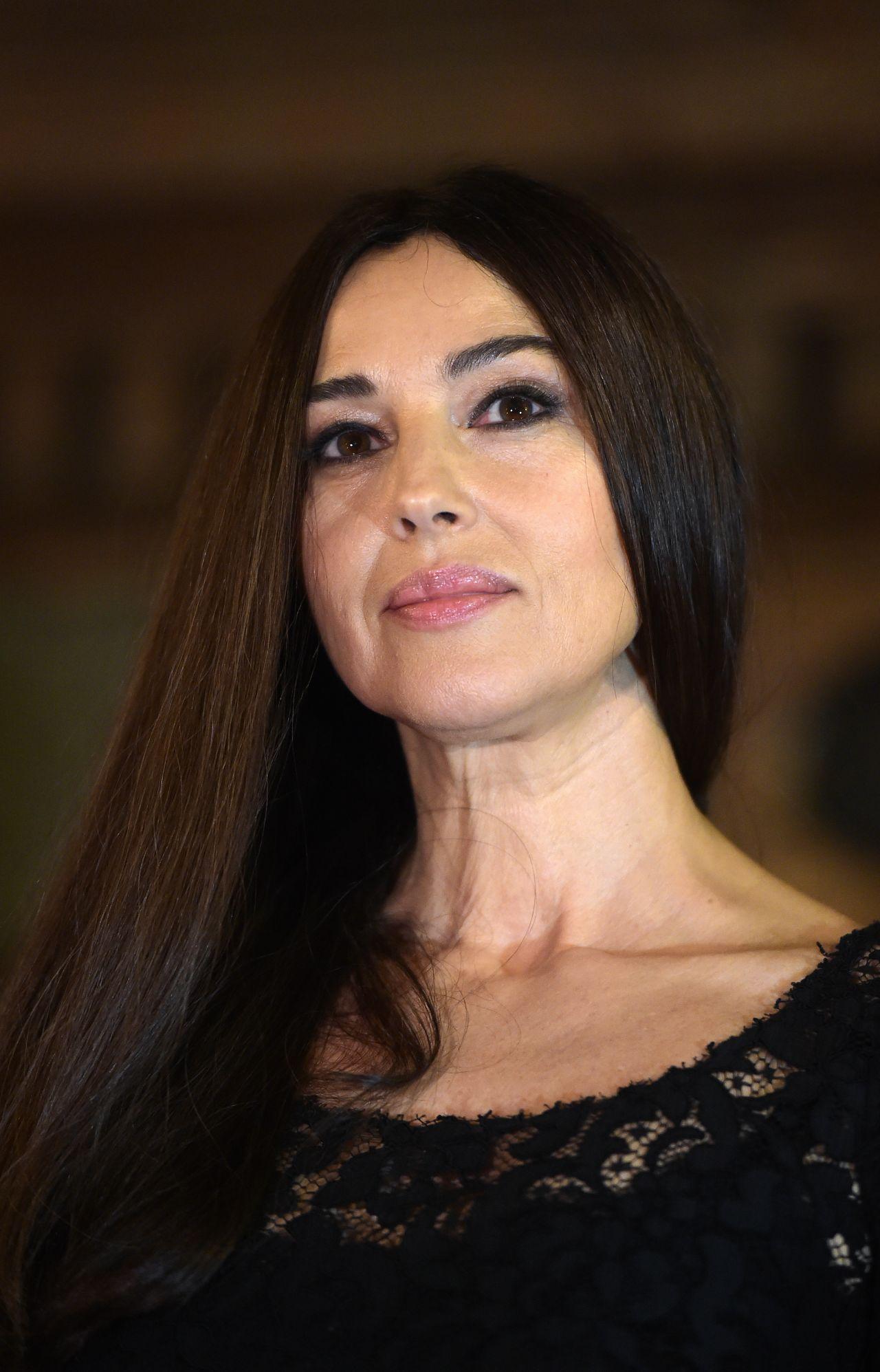 Monica Bellucci Gout De France Good France Gala Dinner In Rome