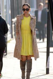 Myleene Klass Street Fashion - Out in London - March 2015