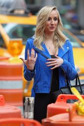 Nastia Liukin - Filming at Times Square in New York City, March 2015