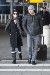 Neve Campbell at JFK Airport, March 2015