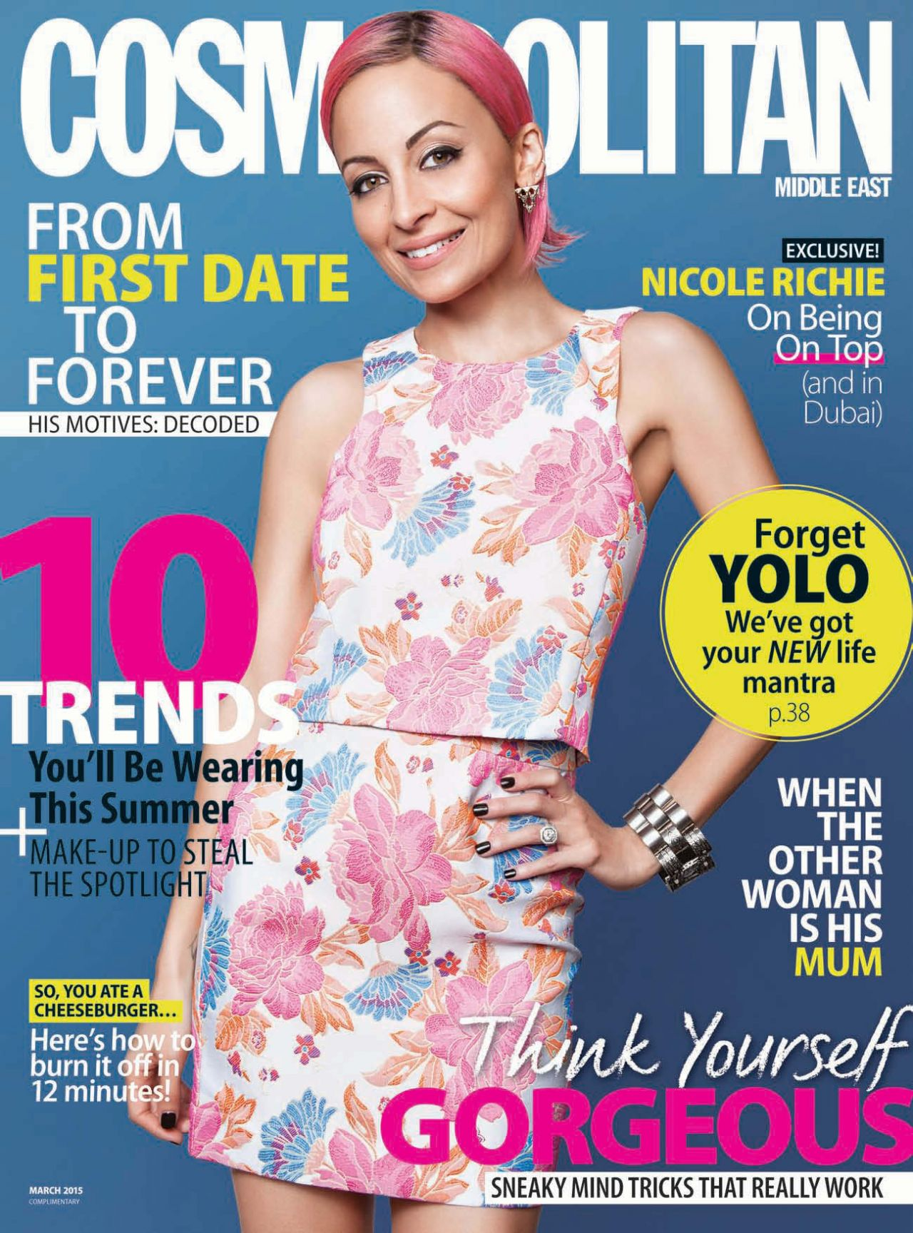 Nicole Richie - Cosmopolitan Magazine (Middle East) March 2015 Issue
