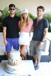 Nina Agdal - Celebrating her Birthday, Lacoste Suite, Miami Open 2015