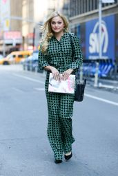 Olivia Holt Style - Leaving the InStyle Offices in New York City, March 2015