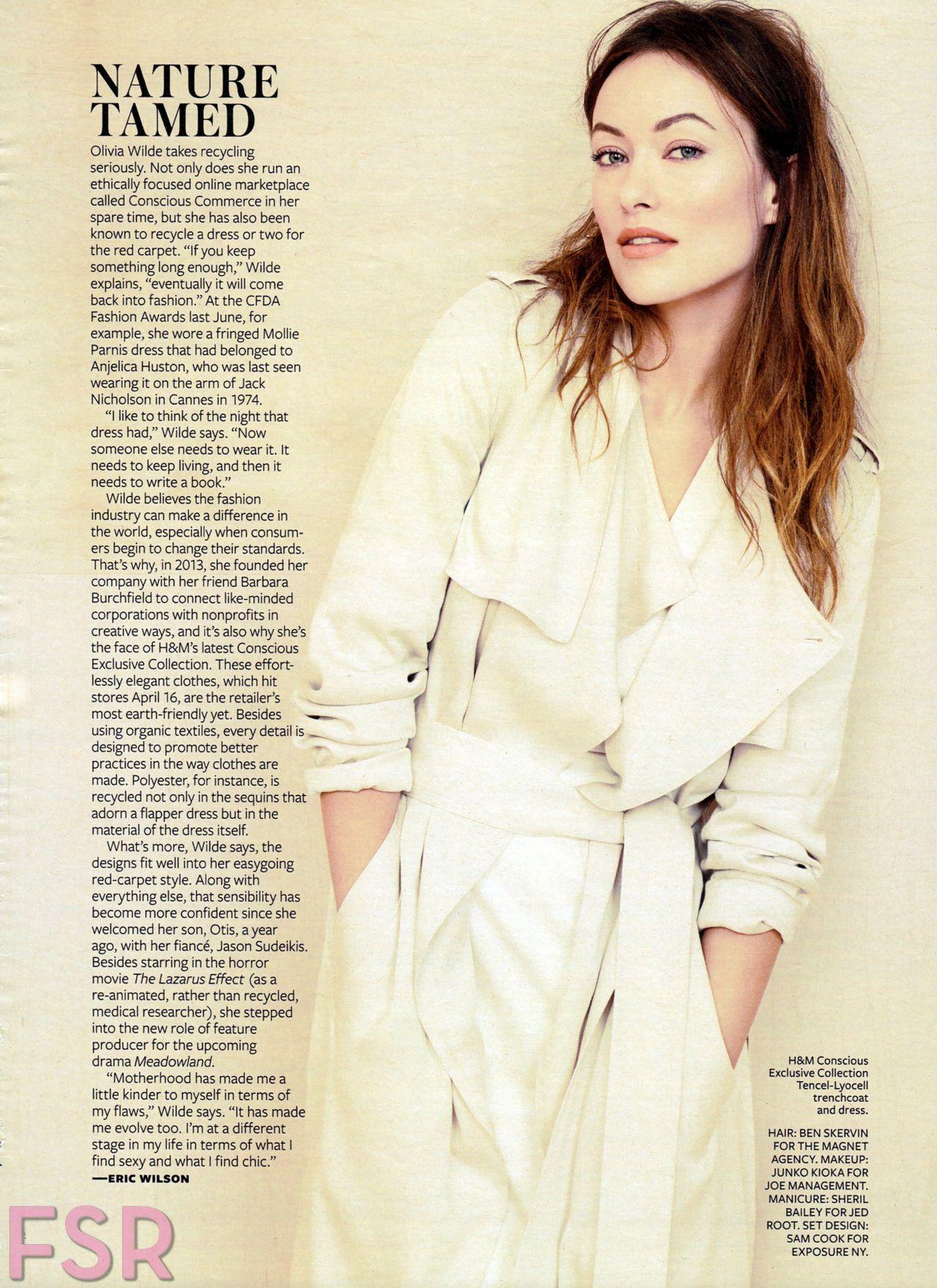 Olivia Wilde 2015 Celebrity Photos Instyle Magazine April Issue