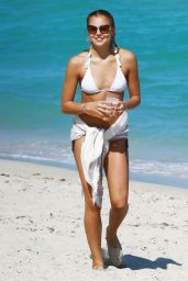 Rachel Hilbert Shows Off Her Bikini Body - Beach in Miami - March 2015