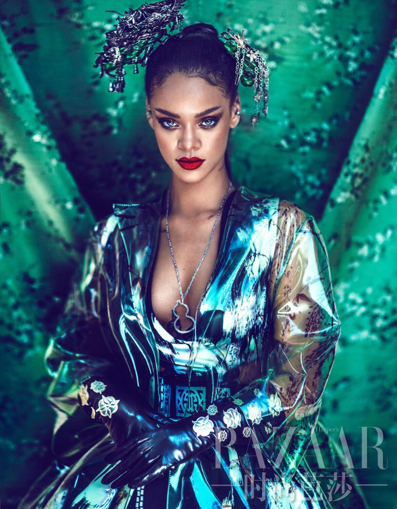 Rihanna harper 39 s bazaar china april 2015 pics for High fashion meaning
