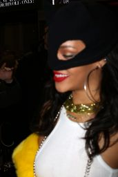 Rihanna Night Out Style - at the VIP Room in Paris, March 2015