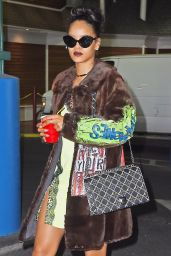 Rihanna Style - Stopping by a Studio in New York CIty, March 2015