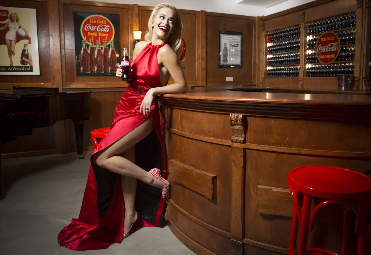 Rita Ora - Celebrating 100 Years of the Coca-Cola Contour Bottle in London