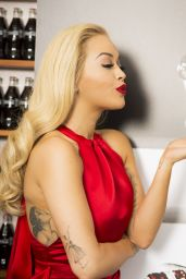Rita Ora - Celebrating 100 Years of the Coca-Cola Contour Bottle in London