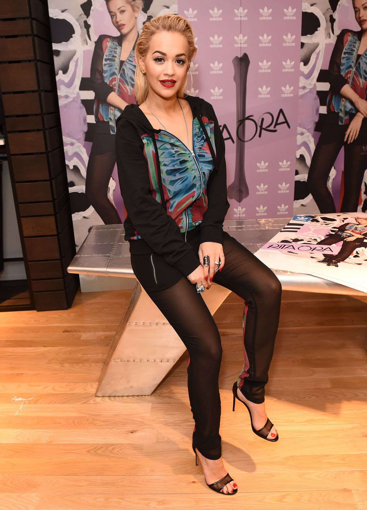 Rita Ora - Celebrating Her Adidas Collection at Harrods in London, March 2015