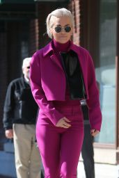 Rita Ora Style - Going to HOT 97 Radio Station in New York City, March 2015