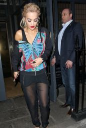 Rita Ora Style - Leaving a Hotel in London, March 2015