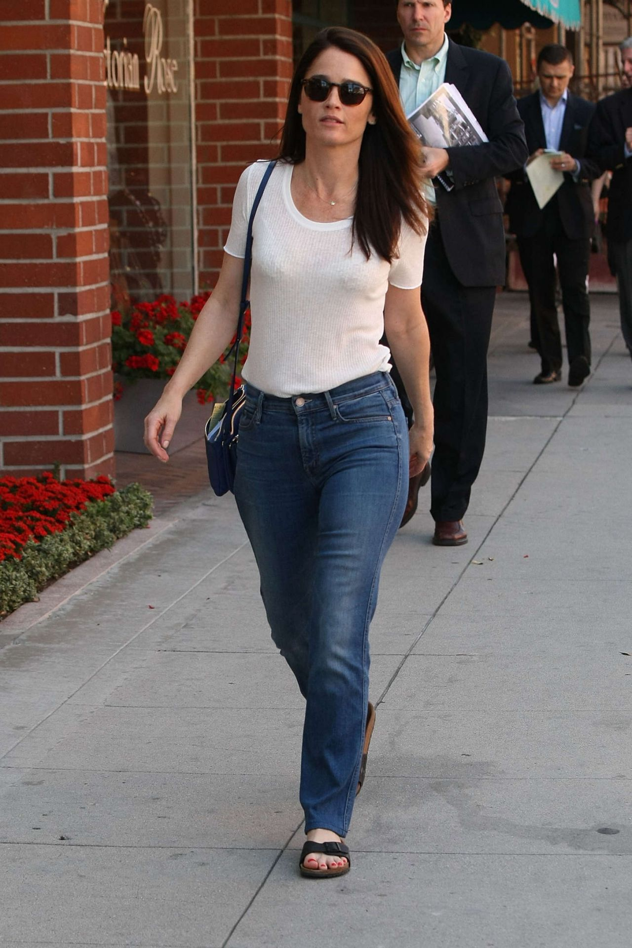 Robin Tunney Street Style - Out in Beverly Hills, March 2015