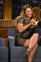 Ronda Rousey - at the Tonight Show with Jimmy Fallon in New York City, March 2015