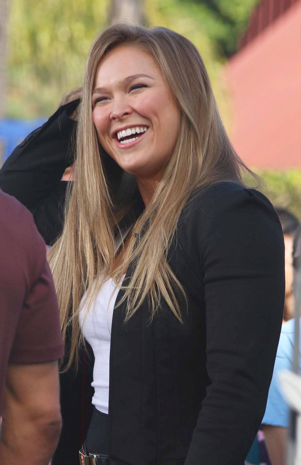 Ronda Rousey On The Set Of Extra In Los Angeles March 2015