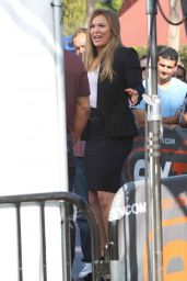 Ronda Rousey on the Set of