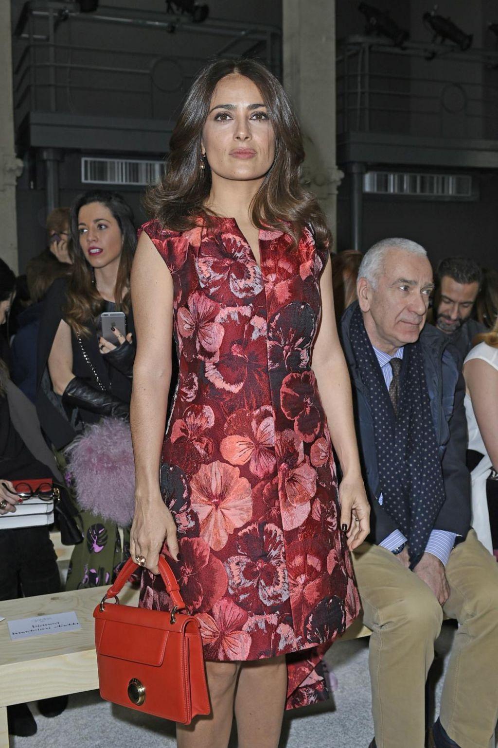 Salma Hayek Fashion - Giamba Parterre Show, February 2015