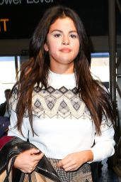 Selena Gomez Casual Style - Departing on a Flight at LAX Airport in Los Angeles, MArch 2015