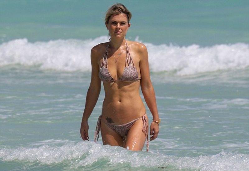 Serinda Swan Bikini Pics – on a Beach in Miami – March 2015