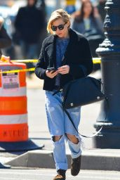 Sienna Miller in Ripped Jeans - Out in New York City - March 2015