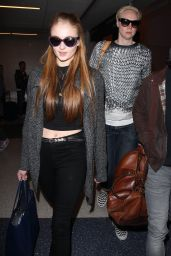 Sophie Turner Casual Style - at LAX Airport, March 2015