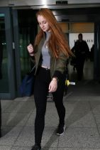 Sophie Turner Departing From LAX Airport & Arriving to Heathrow in London, March 2015