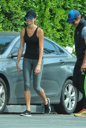 Stacey Keibler in Leggings - Out in Los Angeles, March 2015