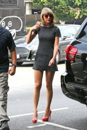 Taylor Swift in Mini Dress - Out for Lunch in Los Angeles, March 2015