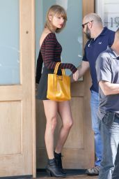 Taylor Swift Leggy in Mini Skirt - Los Angeles, March 2015
