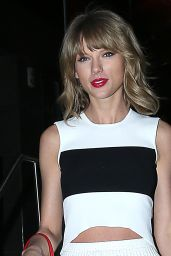 Taylor Swift Night Out Style - Leaving Katsuya Restaurant in Hollywood, March 2015