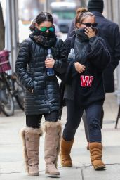 Vanessa Hudgens and Stella Hudgens - Out in New York City, March 2015