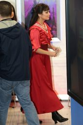 Vanessa Hudgens Arriving to Appear on Good Morning America in New York - March 2015