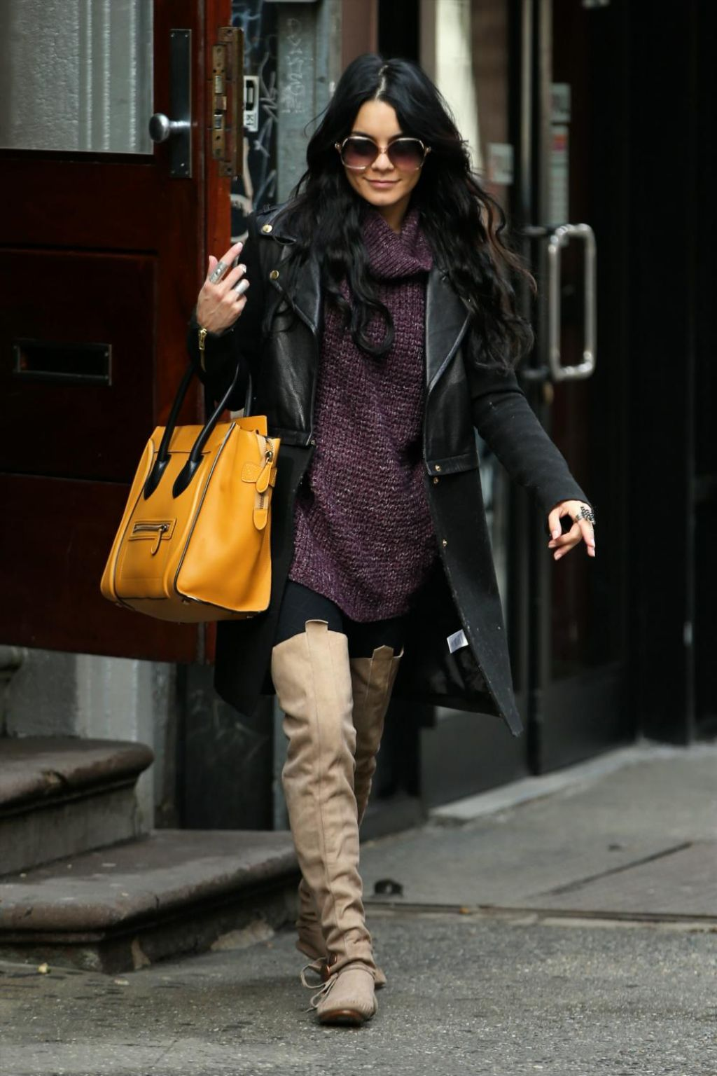 Vanessa Hudgens Casual Style – Leaves Breakfast in New York City ...