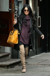 Vanessa Hudgens Casual Style - Leaves Breakfast in New York City, March 2015