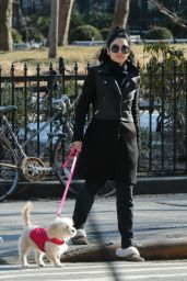 Vanessa Hudgens - Out With Her Dog in New York City, March 2015