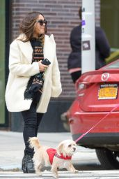 Vanessa Hudgens Playing With Her Dog in New York City, March 2015