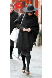 Vanessa Hudgens Street Outfit - Going to a Nail Salon in New York City, March 2015