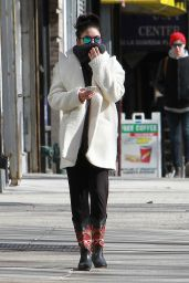 Vanessa Hudgens Street Style - Out in NYC, March 2015