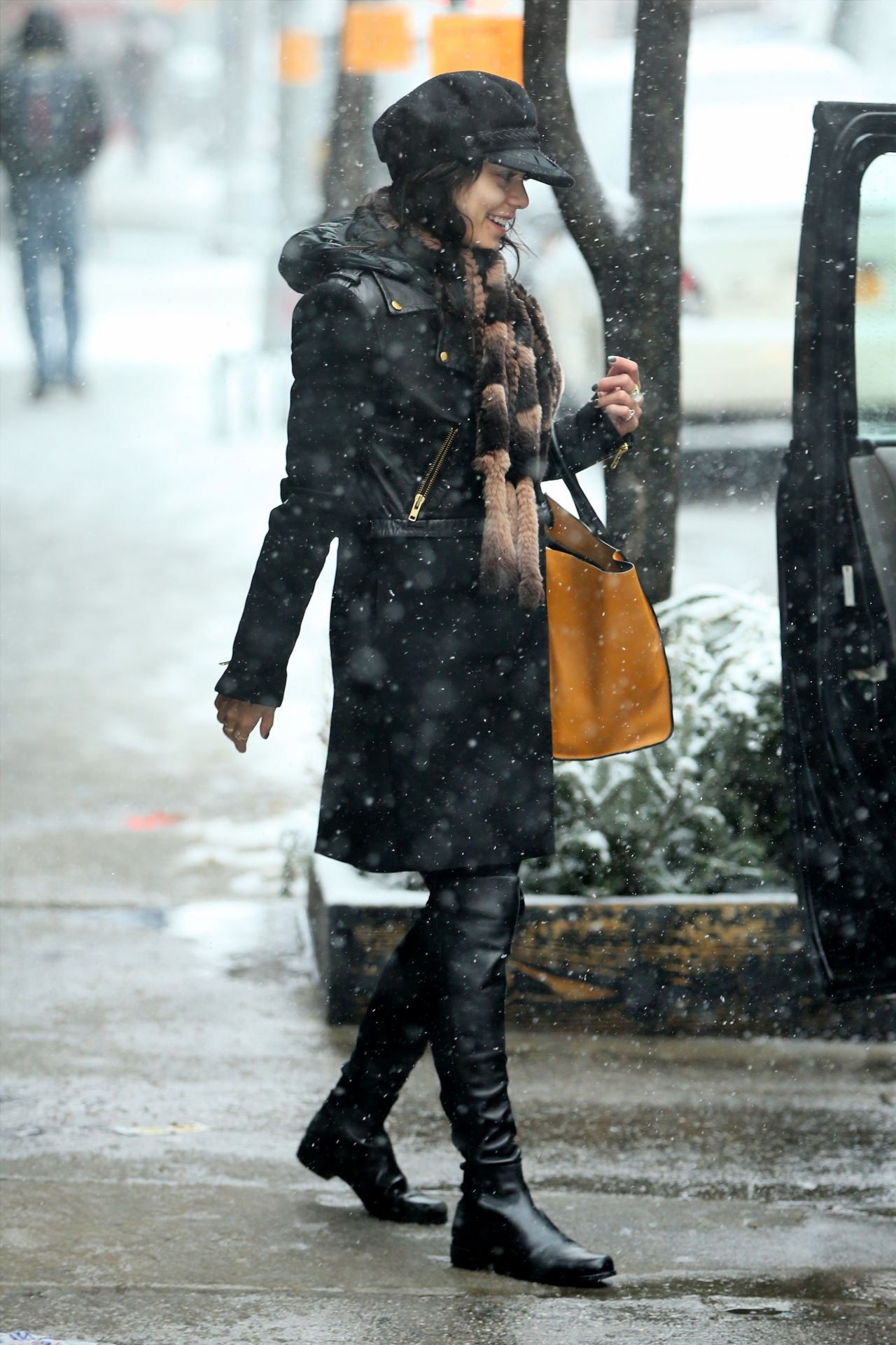 Vanessa Hudgens Winter Style - Out in New York City, March ...