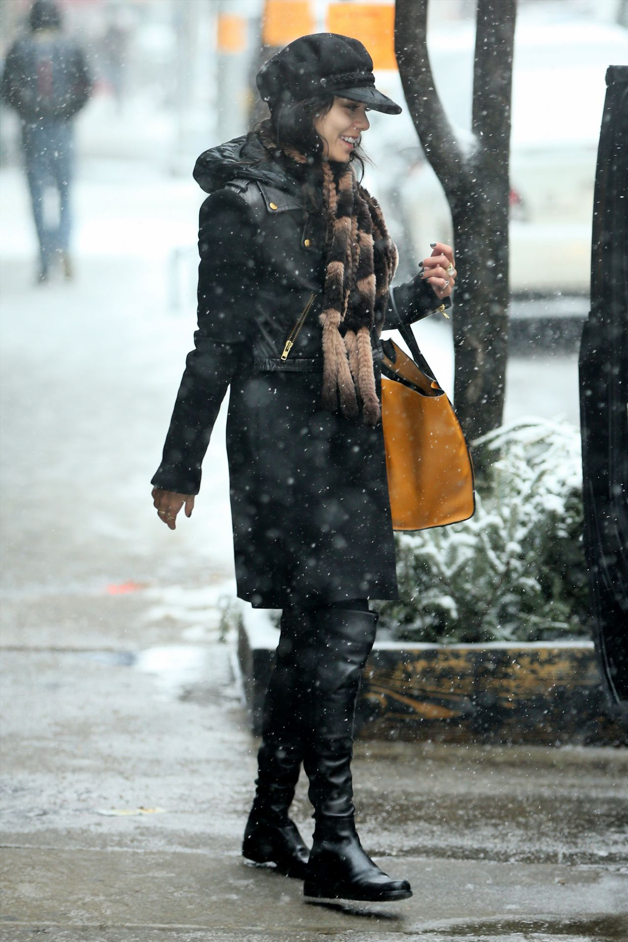 Vanessa Hudgens Winter Style Out In New York City March 2015
