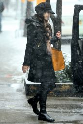 Vanessa Hudgens Winter Style - Out in New York City, March 2015