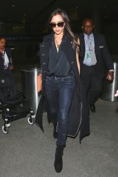 Victoria Beckham Casual Style - at LAX Airport, March 2015