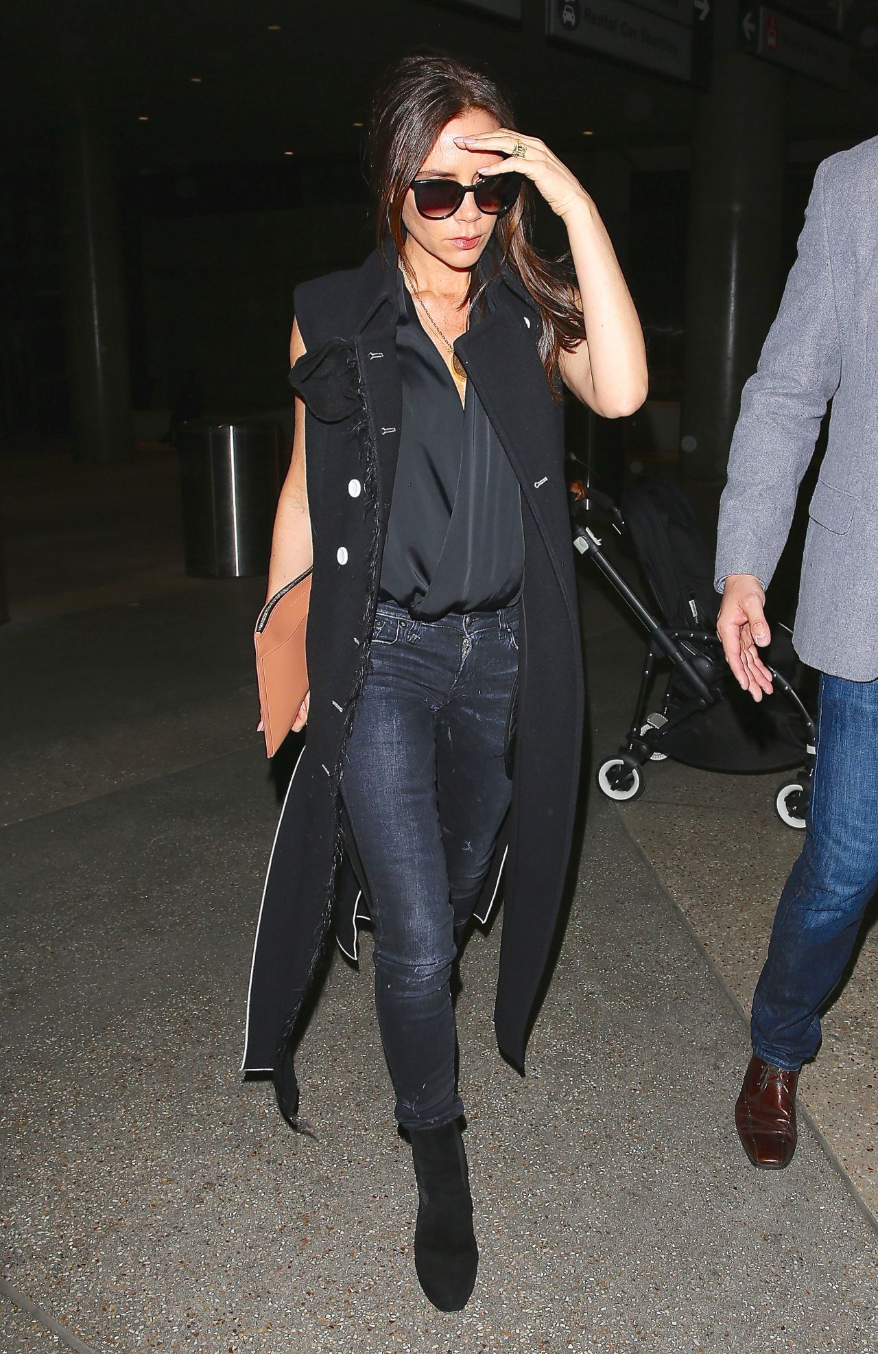 Victoria Beckham Casual Style At Lax Airport March 2015