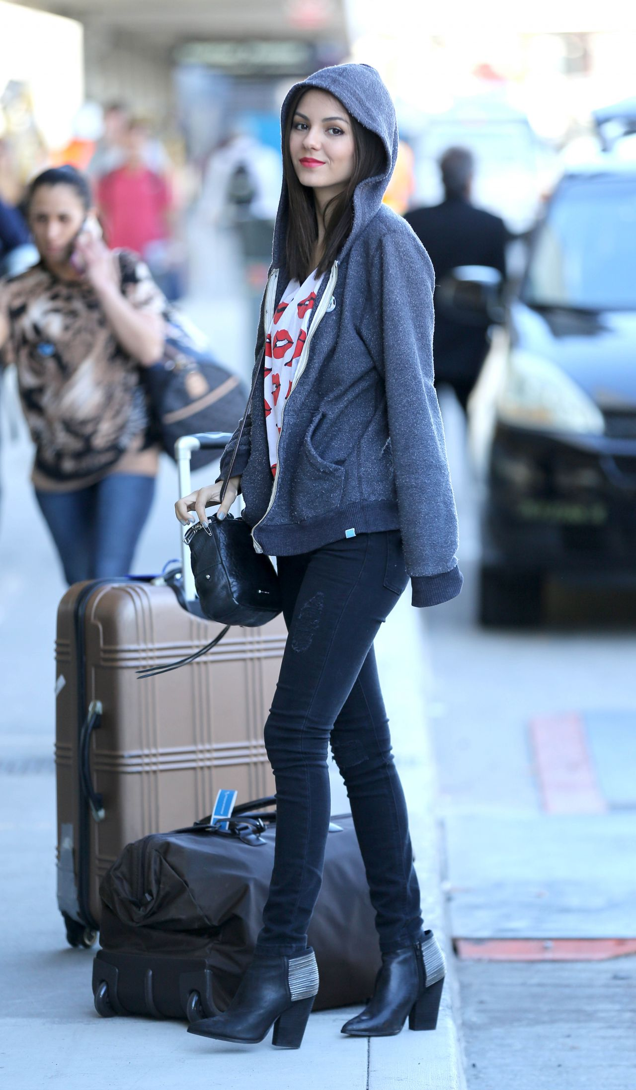 Victoria Justice Chic Street Style At Lax Airport March