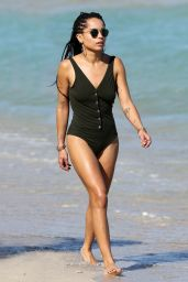 Zoe Kravitz in a Swimsuit at the Beach in Miami, March 2015