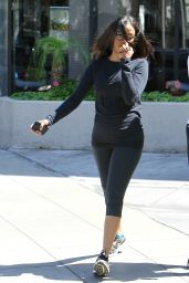 Zoe Saldana in Leggings - Out in Hollywood, March 2015