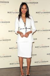 Zoe Saldana – Moet & Chandon Toasts Roger Federer's 1,000th Career Win in Beverly Hills
