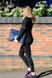Abbey Clancy - on her way to the Gym in London, April 2015