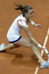 Agnieszka Radwanska - 2015 Porsche Tennis Grand Prix in Stuttgart – First Round